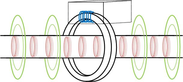 Линии силового поля ферритного противонакипного устройства