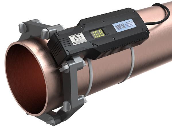 WS-168 (Ду150) ферритное противонакипное устройство установлено на трубе