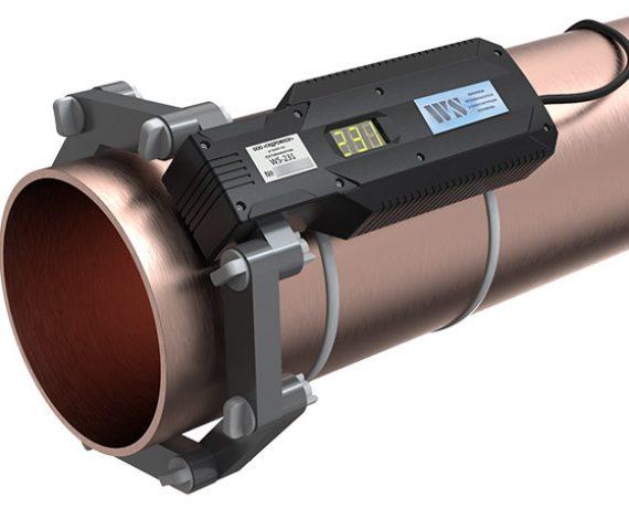 WS-231 (Ду200) ферритное противонакипное устройство установлено на трубе