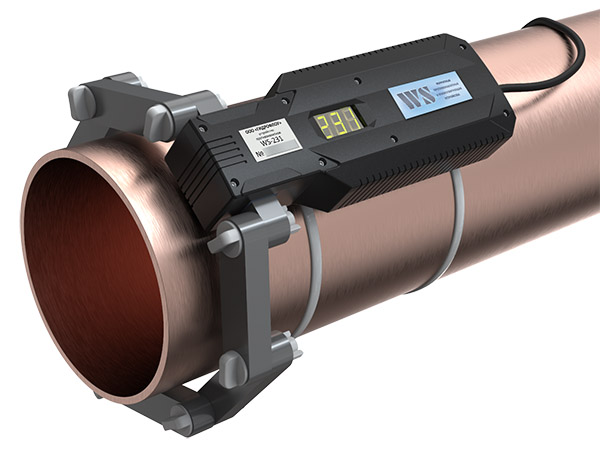 WS-231 ферритное противонакипное устройство установлено на трубе