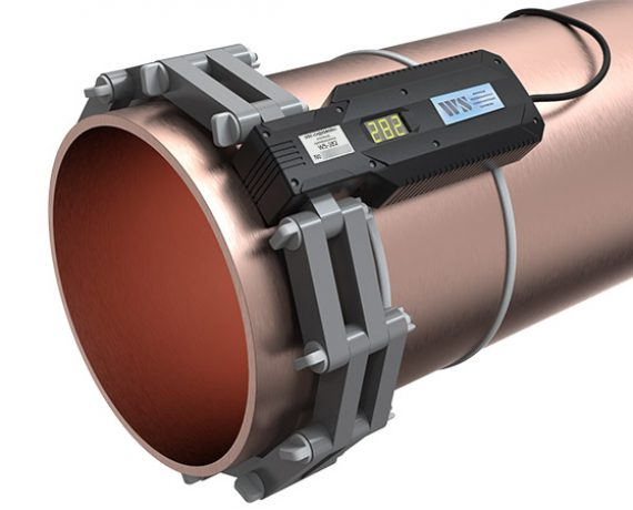WS-282 ферритное противонакипное устройство установлено на трубе