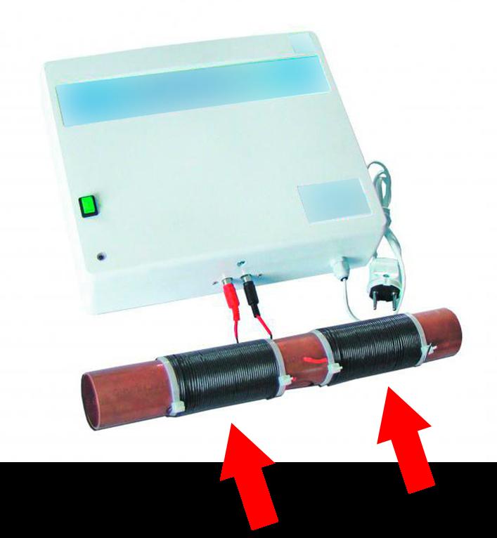 Прибор от накипи с индукционными обмотками