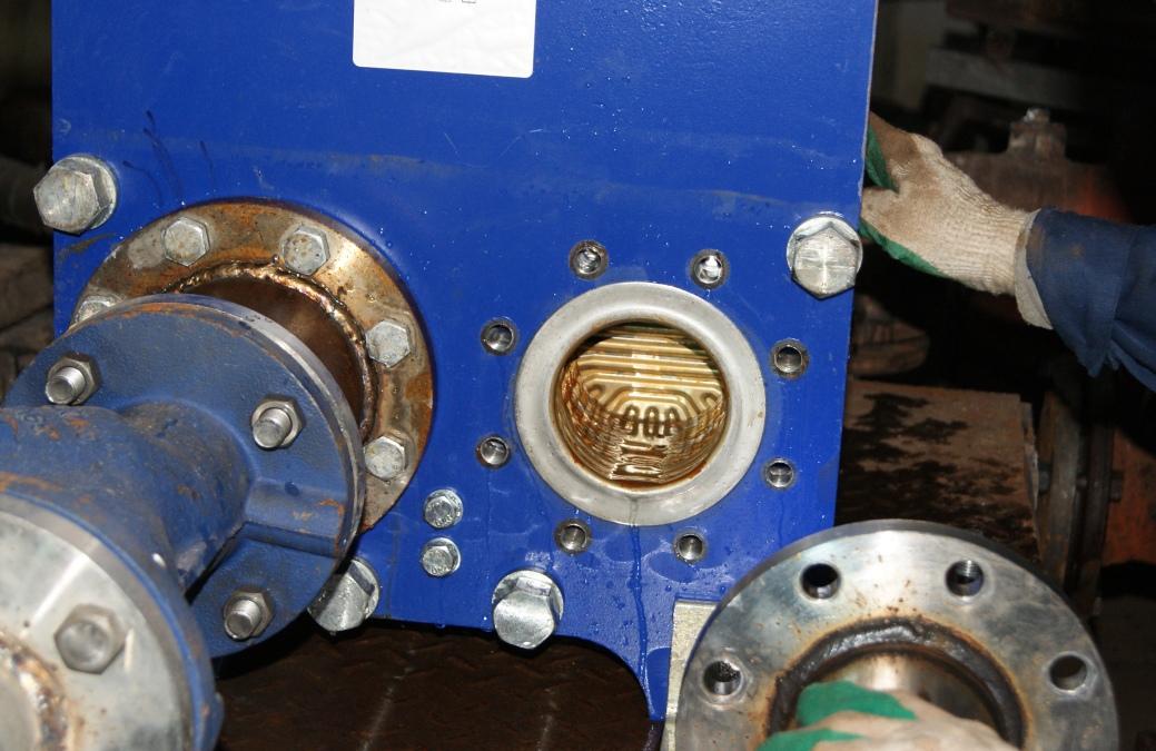 Пластины теплообменника через 90 дней работы с ФПНУ WS-115