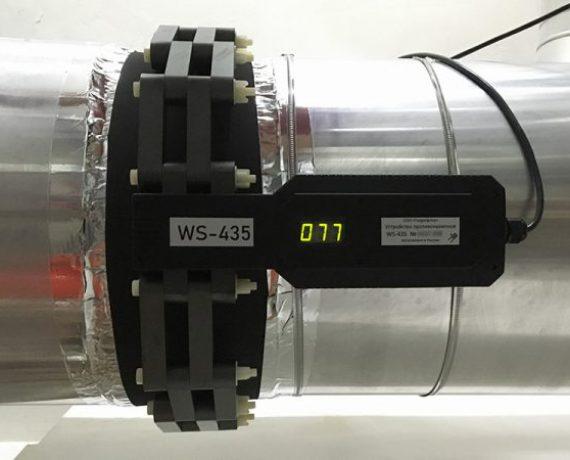 Прибор от накипи WS-435 (Ду400) на трубе к теплообменнику системы вентиляции