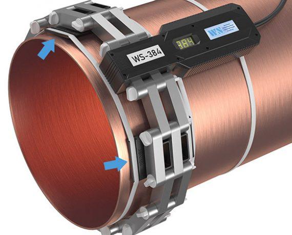 Доп. опоры удерживают на трубе кольцо из ферритов прибора от накипи WS-384 (Ду350, DN373)