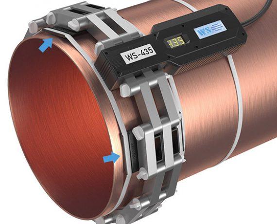 Доп. опоры удерживают на трубе кольцо из ферритов прибора от накипи WS-435 (Ду400, DN426)