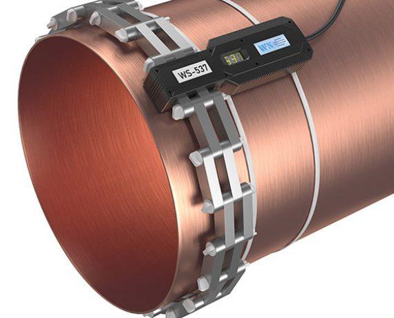 Доп. опоры удерживают на трубе кольцо из ферритов прибора от накипи WS-537 (Ду500, DN530)
