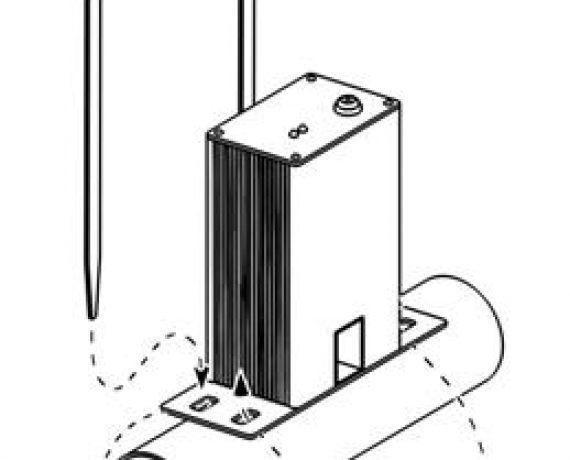 Схема монтажа WS-25, рис. 1. Вставляем хомуты в пазы.