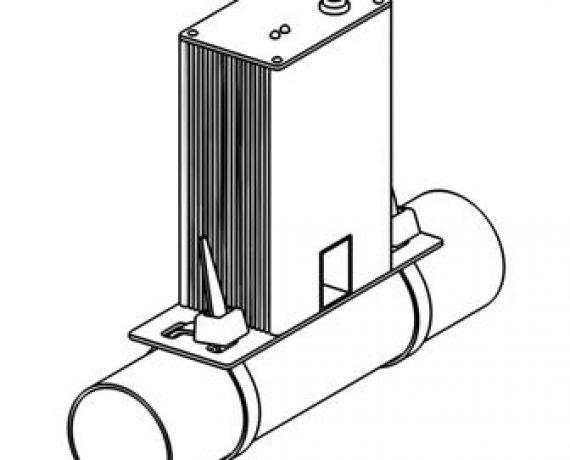 Схема монтажа WS-25, рис. 2. Затягиваем хомуты на трубе.