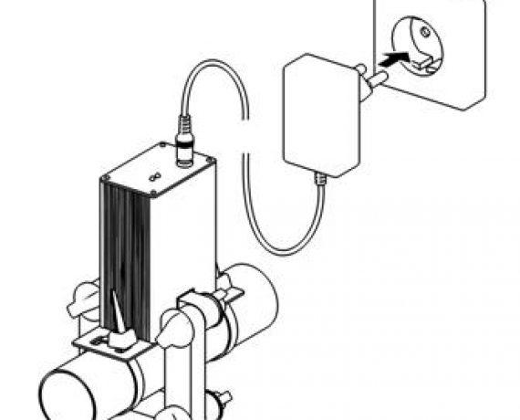 Схема монтажа WS-25, рис. 7. Включаем в сеть 220В.