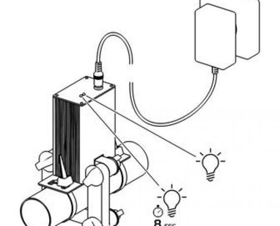 Схема монтажа WS-25, рис. 8. Включились индикаторы