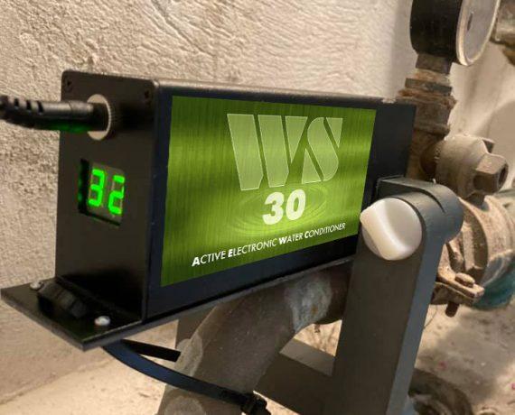 Прибор от накипи ws30 установлен на вводе в дом