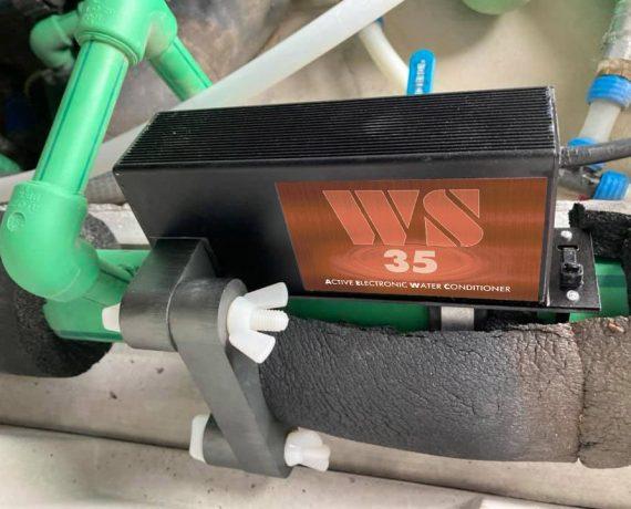 Прибор от накипи WS-35 установлен на вводе в дом